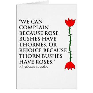 Cartes Lincoln : sur Thornes et roses (on s'est levé).