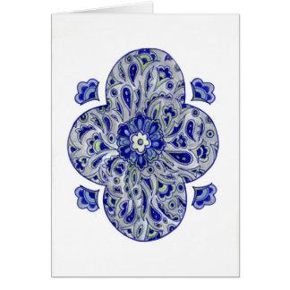 Cartes L'Inde bleue Paisley