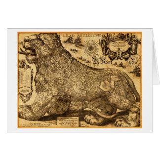 Cartes Lion Belgicus de Pays-Bas et de la Belgique