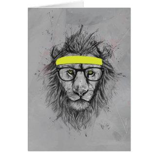 Cartes lion de hippie