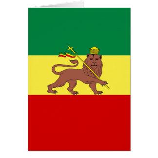 Cartes Lion de reggae de Rasta de Judah