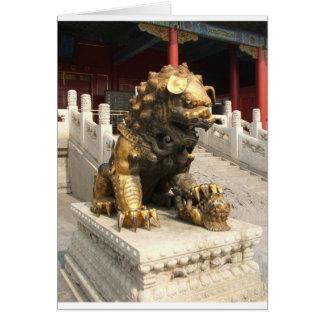 Cartes Lion en bronze de Cité interdite