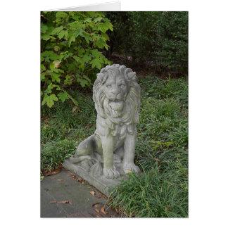Cartes Lion en pierre