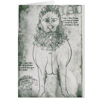 Cartes Lion et porc-épic de Mme Fr 19093 fol.24v