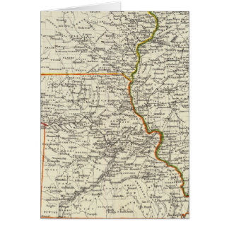 Cartes L'Iowa, le Missouri, et l'Illinois
