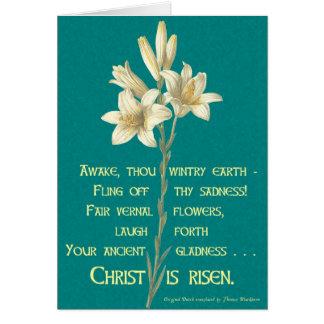 Cartes Lis de Pâques avec la citation de Blackburn