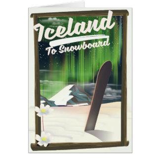 Cartes L'Islande à faire du surf des neiges