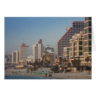 Cartes L'Israël, Tel Aviv, du front de mer, hôtels,