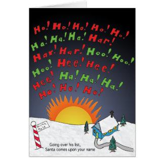Cartes Liste de Noël