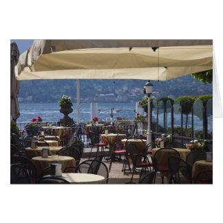 Cartes L'Italie, province de Como, Bellagio. Café de