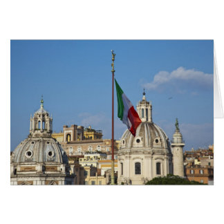 Cartes L'Italie, Rome. Drapeau italien