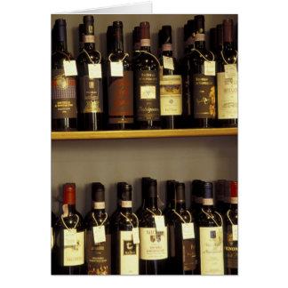 Cartes L'Italie, Toscane, affichage de vin de Pienza dans