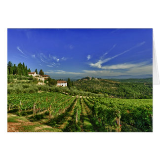 Cartes L'Italie, Toscane, Greve. Les vignobles de