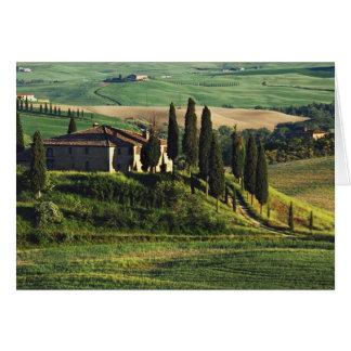 Cartes L'Italie. Une villa pastorale de la Toscane en Val