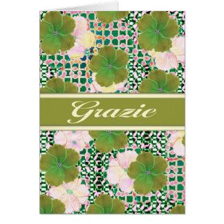 Cartes L'Italienne de Grazia vous remercient avec le