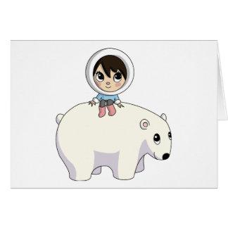 Cartes Lizzy et givrer l'ours blanc