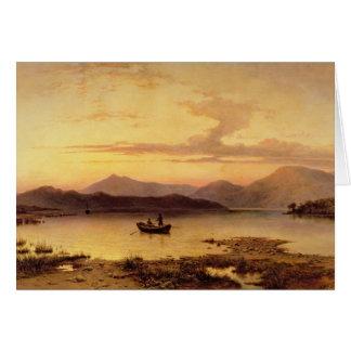 Cartes Loch Etive, de Bonawe - soirée, 1875 (huile sur le