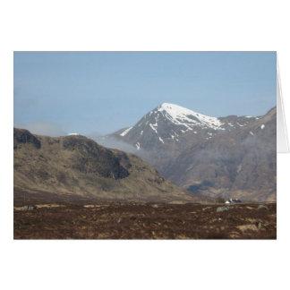 Cartes Lochs, rivières et montagnes écossais