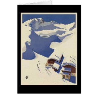 Cartes Loge de ski de l'Autriche dans les Alpes