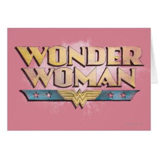 Cartes Logo de crayon de femme de merveille