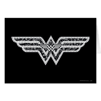Cartes Logo de Paisley de femme de merveille