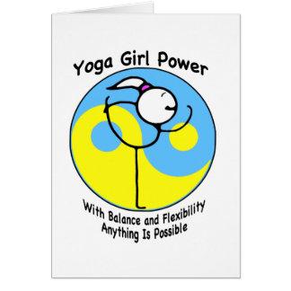 Cartes Logo de puissance de fille de yoga