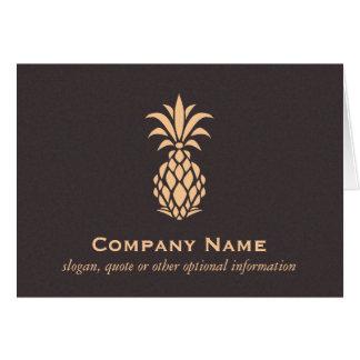 Cartes Logo tropical élégant d'ananas
