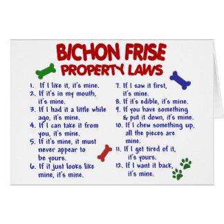 Cartes Lois 2 de propriété de FRISE de BICHON