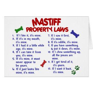 Cartes Lois 2 de propriété de MASTIFF