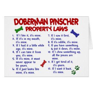 Cartes Lois 2 de propriété de PINSCHER de DOBERMANN