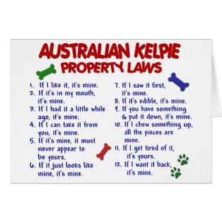Cartes Lois AUSTRALIENNES 2 de propriété de KELPIE