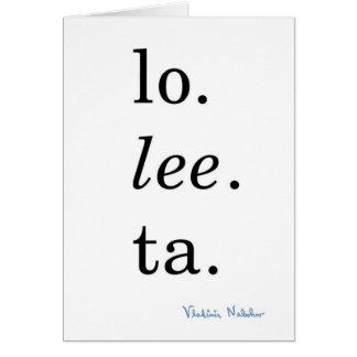 Cartes Lolita - Vladimir Nabokov