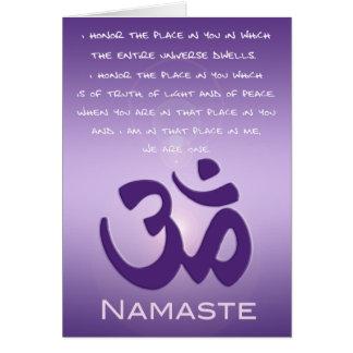 Cartes L'OM dans les pourpres - Namaste