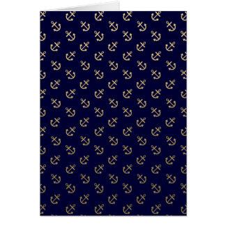 Cartes L'or ancre le motif d'arrière - plan de bleu