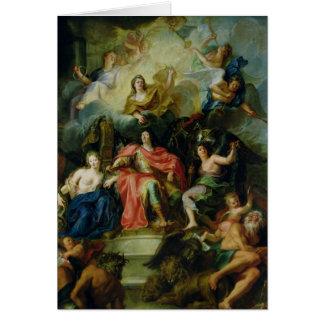 Cartes Louis XIV couronné par gloire, c.1686
