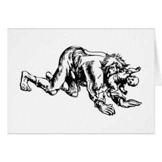 Cartes Loup-garou mangeant le bébé