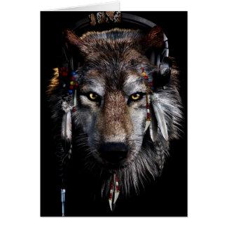 Cartes Loup indien - loup gris