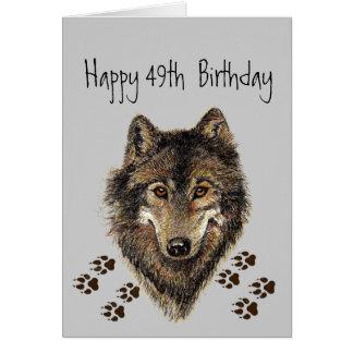 Cartes Loups drôle et quarante-neuf trente-neuvième