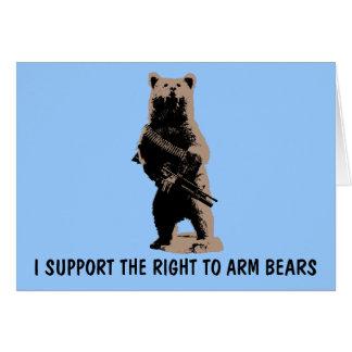Cartes L'ours arme l'ours gris