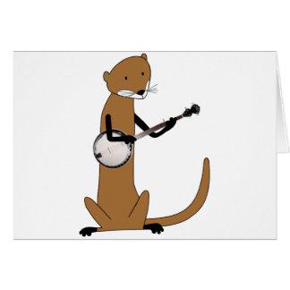 Cartes Loutre jouant le banjo