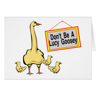 Cartes Lucy Goosey