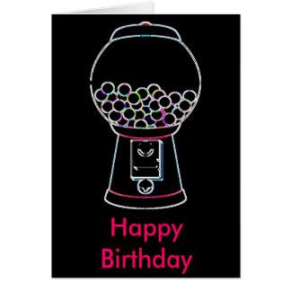 Cartes Lueur de machine de Gumball, joyeux anniversaire