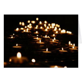 Cartes Lumière de bougie du divin