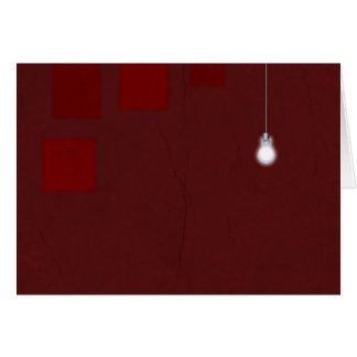 Cartes Lumière rouge de pièce
