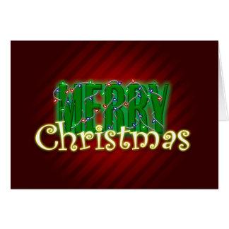 Cartes Lumières de Joyeux Noël