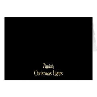 Cartes Lumières de Noël amish