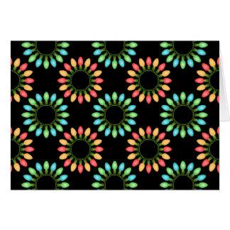 Cartes Lumières de Noël en cercles colorés