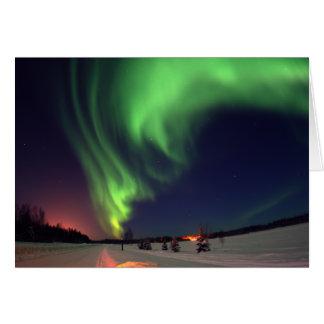 Cartes Lumières du nord au lac bear