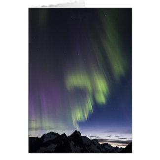 Cartes Lumières du nord de champ de glace de Juneau.