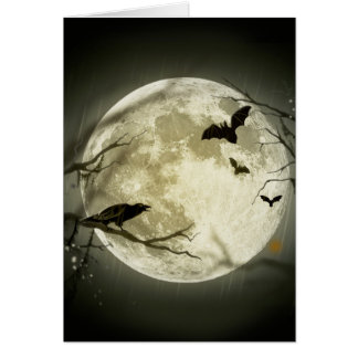 Cartes Lune de Halloween - illustration de pleine lune